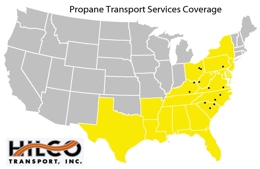 Propane Transport Services w dots